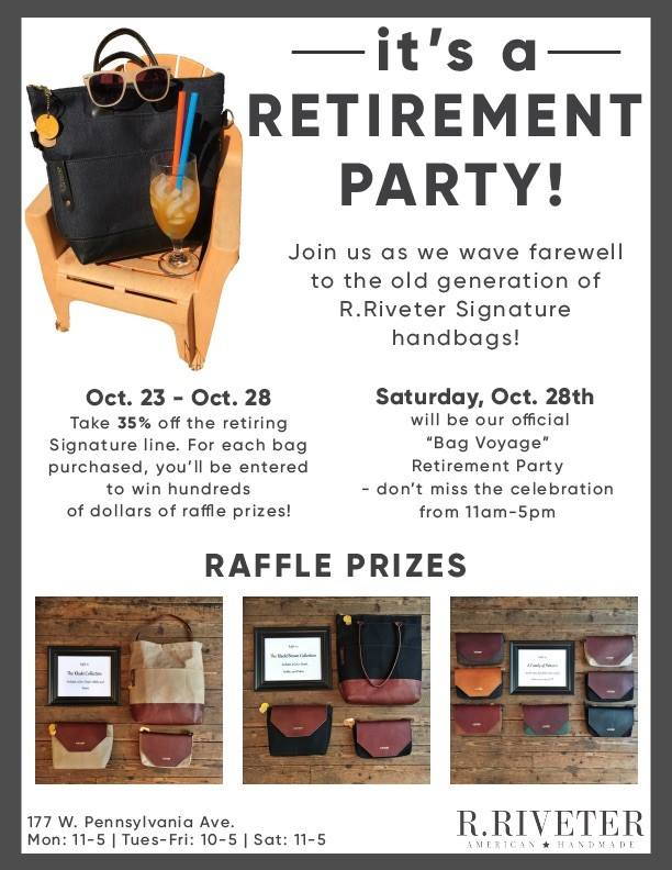 R.Riveter Gen 2 Bag Voyage Retirement Party! | TheMrsTee.com